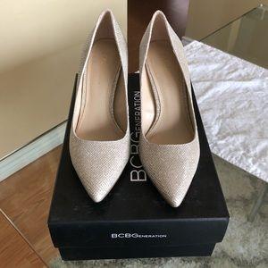 BCBGeneration glitzy mesh heels,size 5.5M/35.5